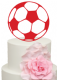 Football Soccer Ball Cake Acrylic Topper